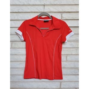Casall Orange/Red Sports Polo Tee